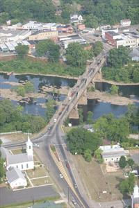 Aerial of Bibb Graves Bridge